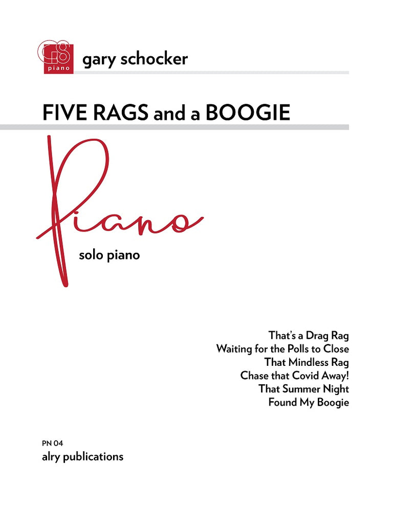 Schocker - Five Rags and a Boogie for Solo Piano - PN04