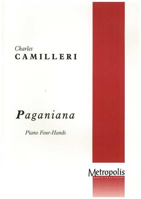 Camilleri - Paganiana for Piano Four-Hands - PN6030EM
