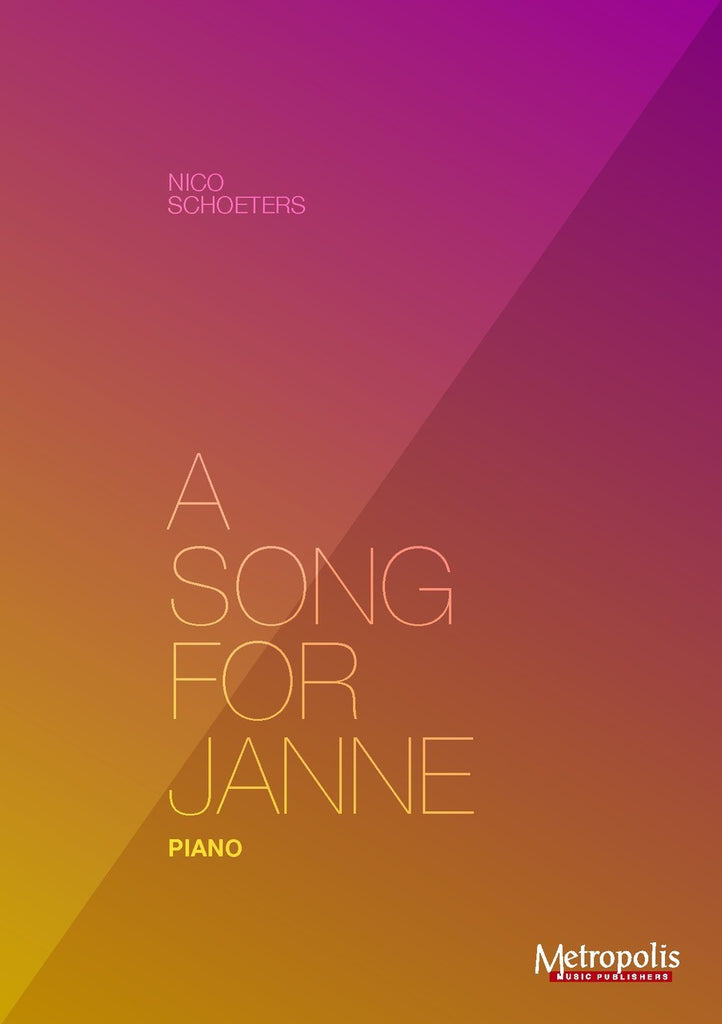 Schoeters - A Song for Janne - PN7016EM