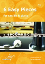 6 Easy Pieces for B-flat Saxophone and Piano - SP10621DMP