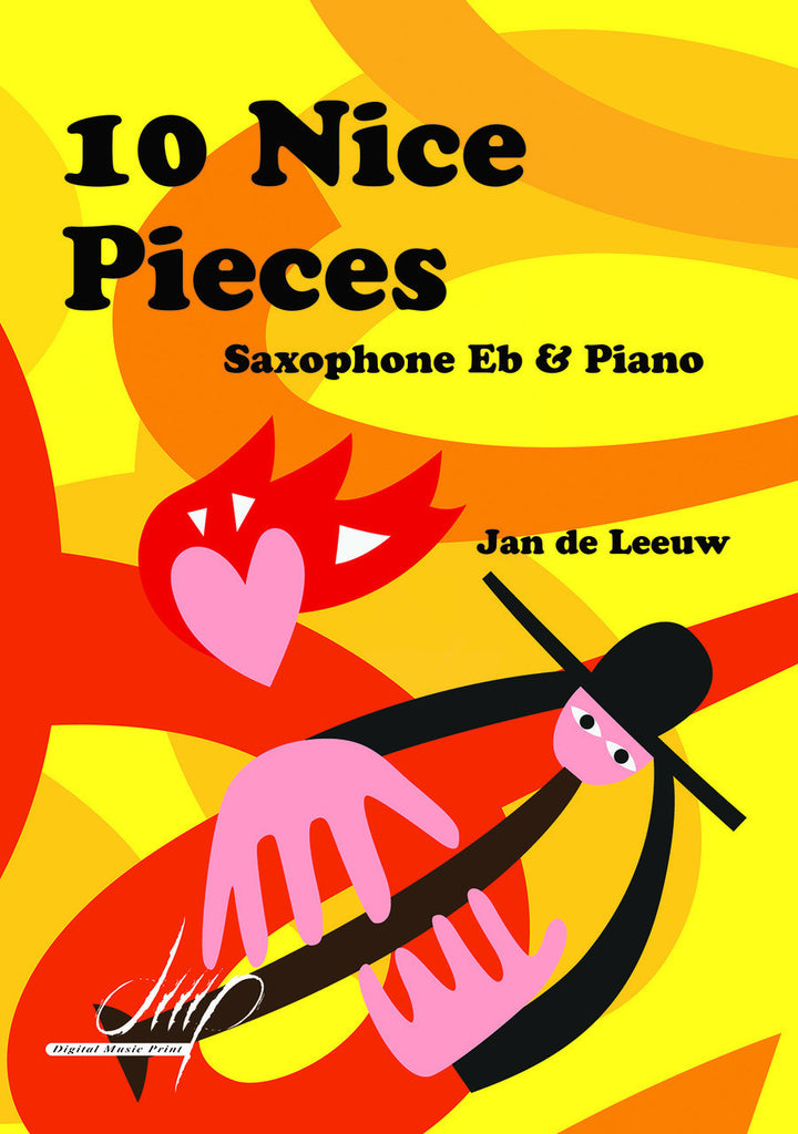 de Leeuw - 10 Nice Pieces for E-Flat Saxophone and Piano - SP115002DMP