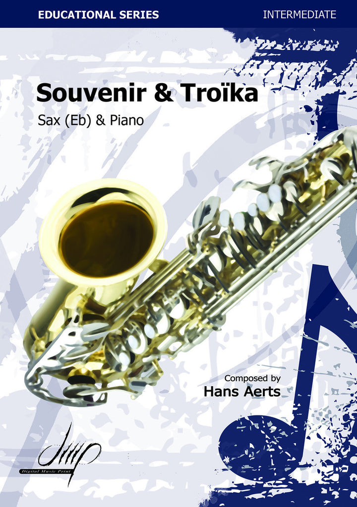 Aerts - Souvenir and Troika (Alto Saxophone and Piano) - SP115032DMP