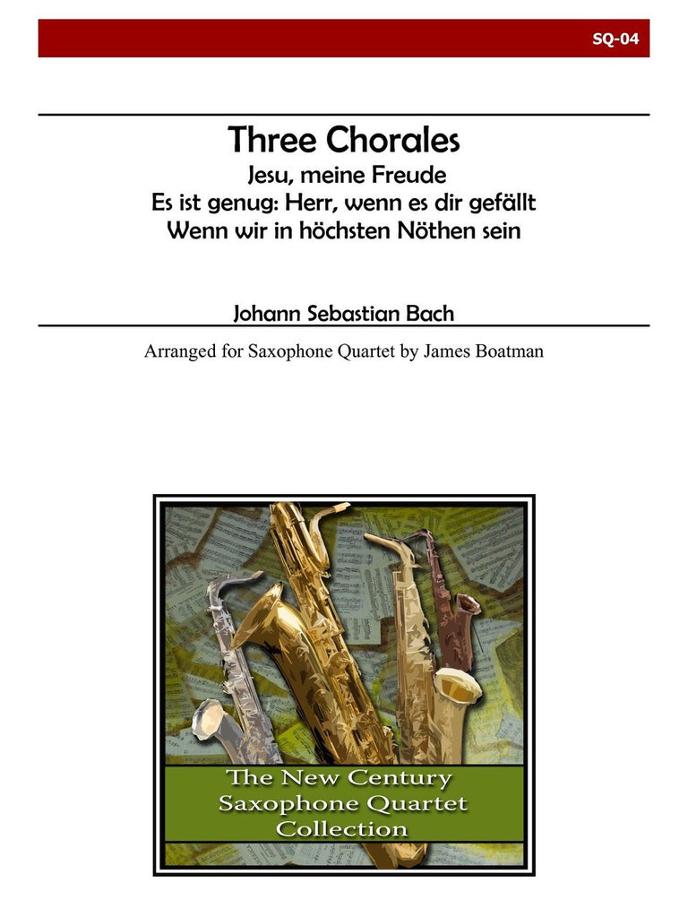 Bach (arr. Boatman) - Three Chorales - SQ04