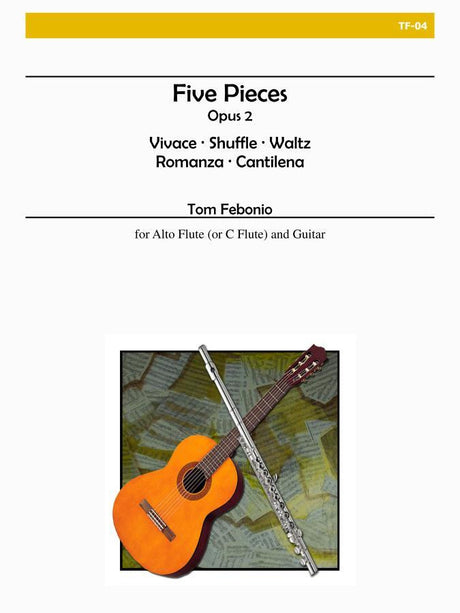 Febonio - Five Pieces for Alto Flute and Guitar - TF04