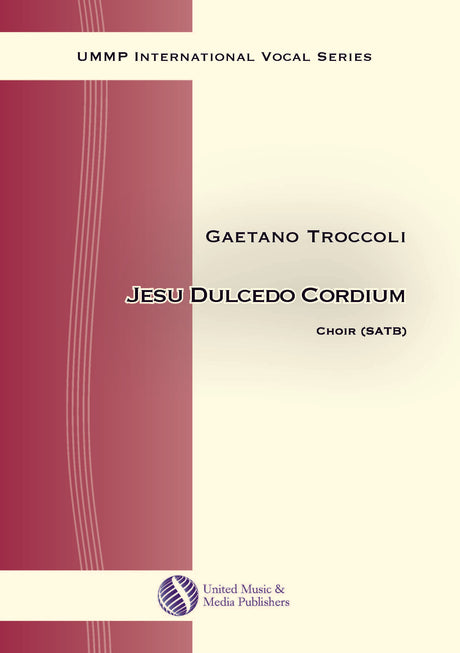 Troccoli - Jesu dulcedo cordium for Mixed Choir (SATB) - V170211UMMP