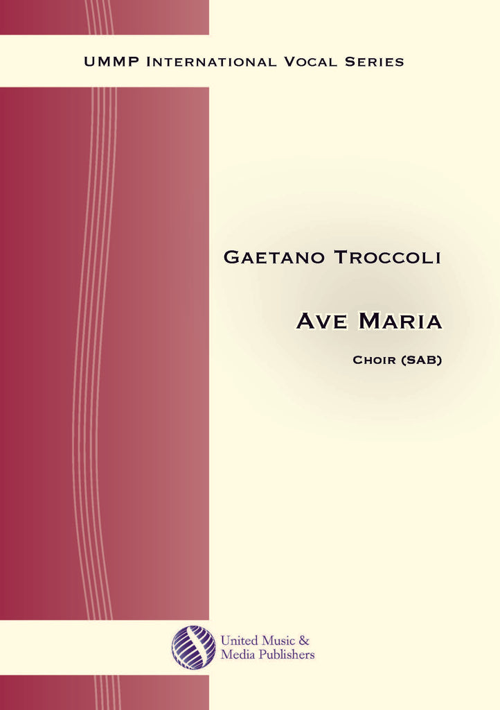 Troccoli - Ave Maria for Mixed Choir (SAB) - V170215UMMP
