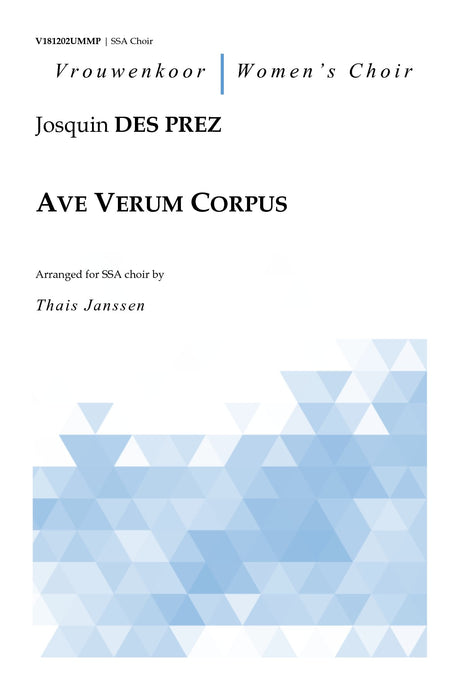 des Prez - Ave Verum Corpus for SSA Choir - V181202UMMP