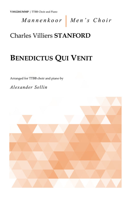 Stanford - Benedictus Qui Venit for TTBB Choir and Piano - V181226UMMP