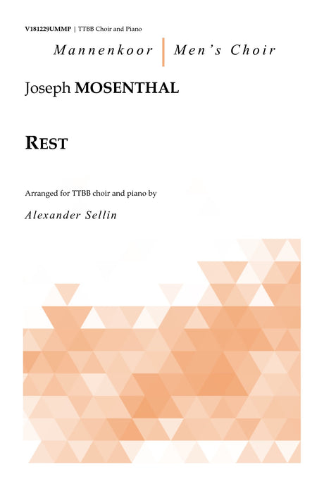 Mosenthal - Rest for TTBB Choir and Piano - V181229UMMP