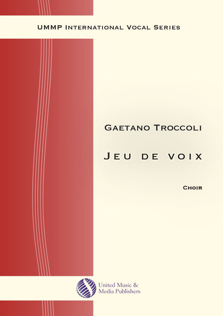 Troccoli - Jeu de voix for Mixed Choir (SATB) - V190706UMMP