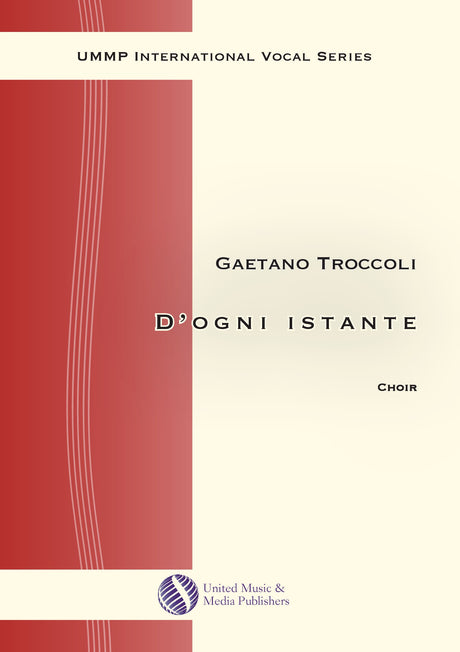 Troccoli - D'ogni instante for Mixed Choir (SATB) - V190901UMMP