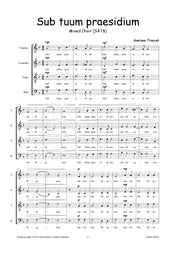 Troccoli - Sub tuum praesidium for Mixed Choir (SATB) - V190902UMMP