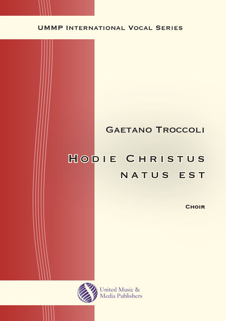 Troccoli - Hodie Christus natus est for Mixed Choir (SATB) - V200103UMMP