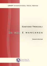 Troccoli - Di che è mancanza for Voice and Guitar - V200201UMMP