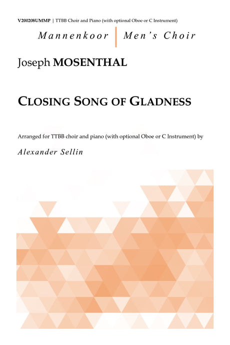 Mosenthal - Closing Song of Gladness for TTBB Choir and Piano - V200208UMMP