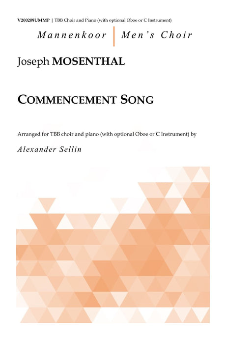 Mosenthal - Commencement Song for TBB Choir and Piano - V200209UMMP