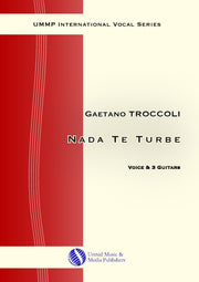 Troccoli - Nada te turbe II for Voice and 3 Guitars - V210114UMMP