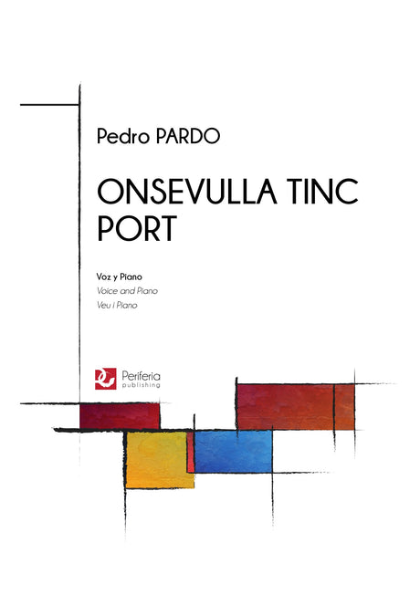 Pardo - Onsevulla tinc port for Voice and Piano - V3151PM