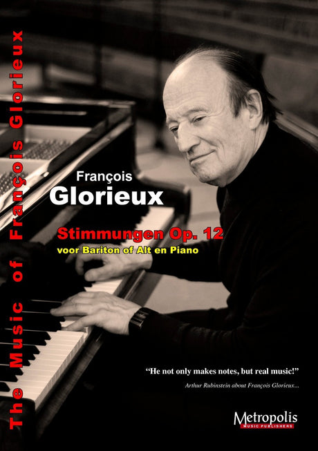 Glorieux - Stimmungen Op.12 for Baritone or Alto and Piano - V6638EM