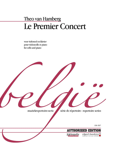 Theo van Hamberg - Le Premier Concert for Cello and Piano - VCP4597EM