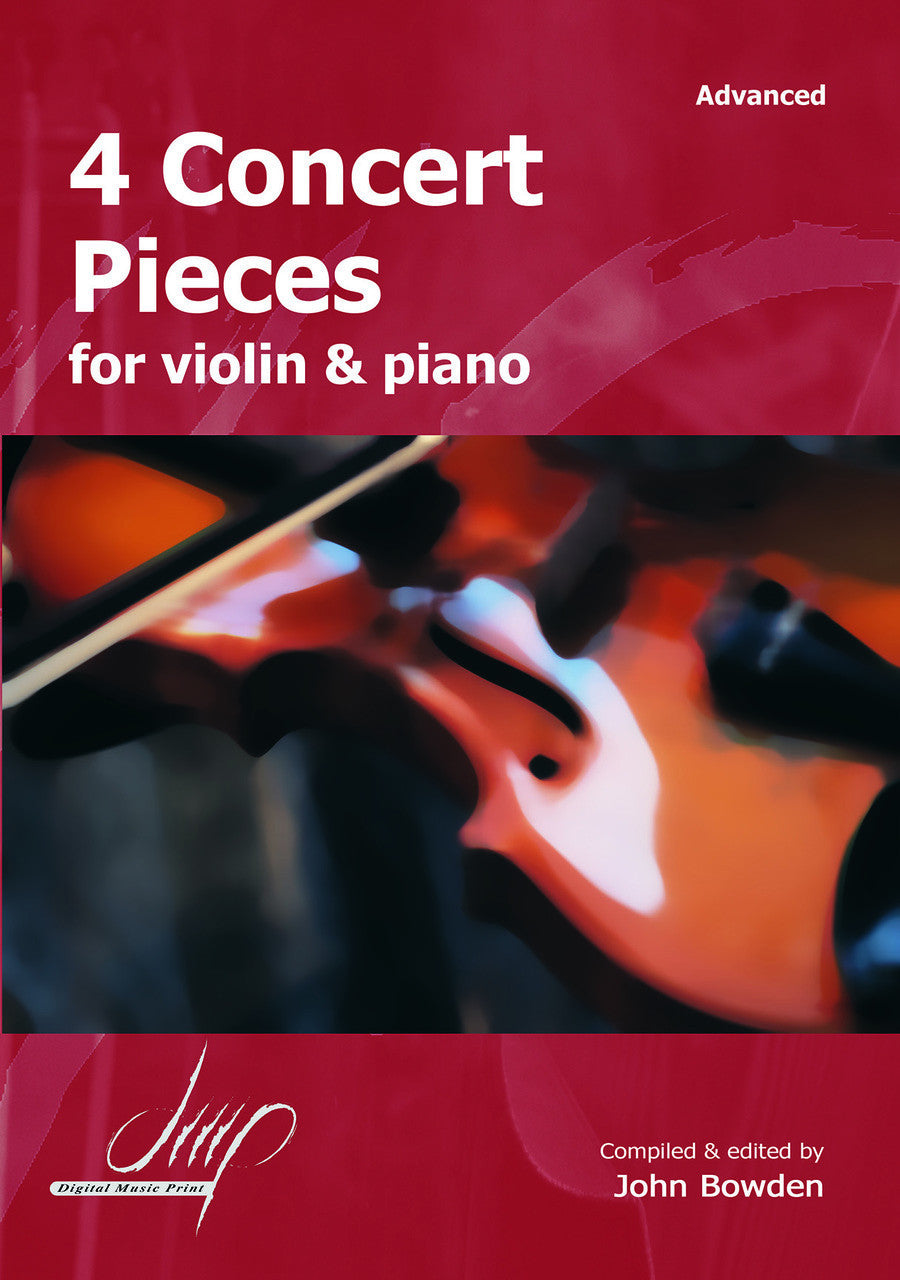 4 Concert Pieces for Violin and Piano - VLP10535DMP | United