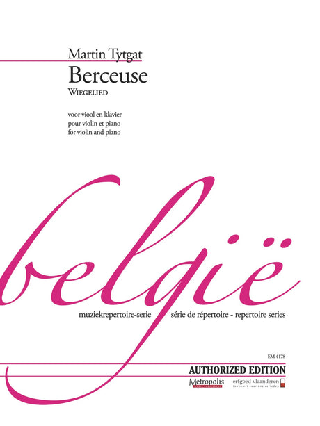 Tytgat - Berceuse (Wiegelied) for Violin and Piano - VLP4178EM