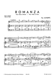 Alpaerts - Romanza for Violin and Piano - VLP4190EM