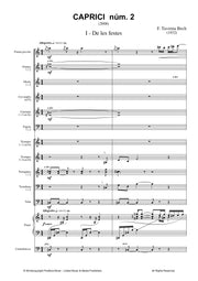 Taverna-Bech - Caprici Num. 2 for Piano and Wind Ensemble - WE3348PM