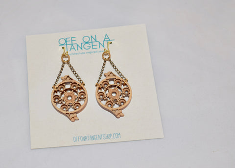 Off On A Tangent Earrings - Treppe Collection