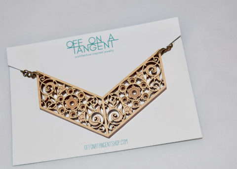 Off On A Tangent Necklace - Treppe Collection
