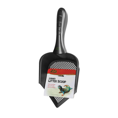Zilla Corner Litter Scoop Black