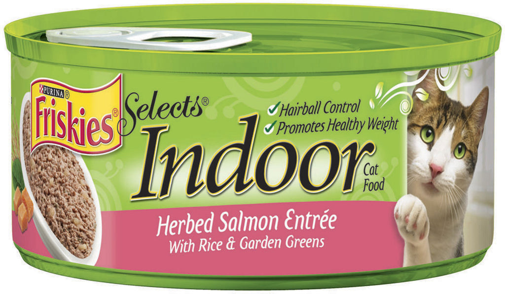 Friskies Selects Indoor Herbed Salmon Entree Canned Cat Food