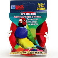 Lee's Pet Products 2-Pack Lees Bird Cage Cup, 3-1/2-Inch