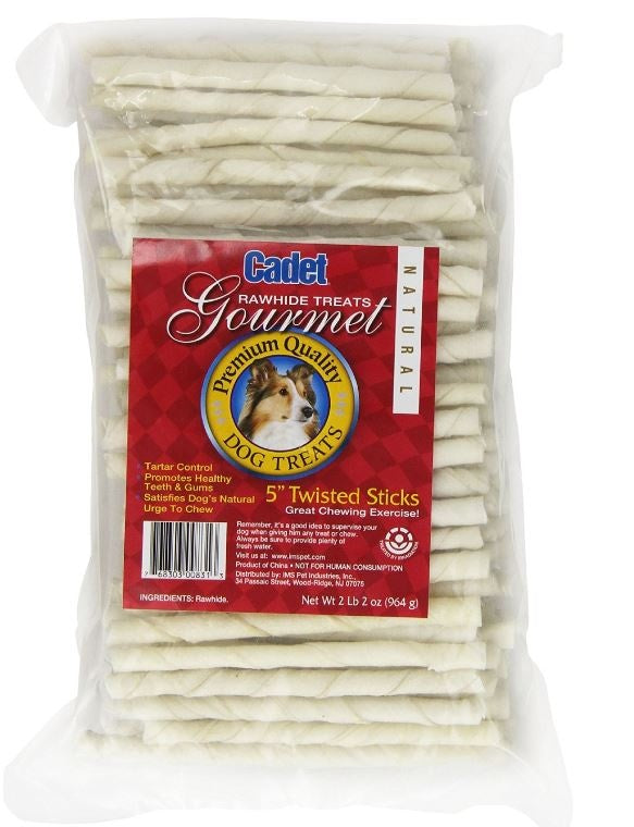 Cadet White Rawhide Twisted Sticks