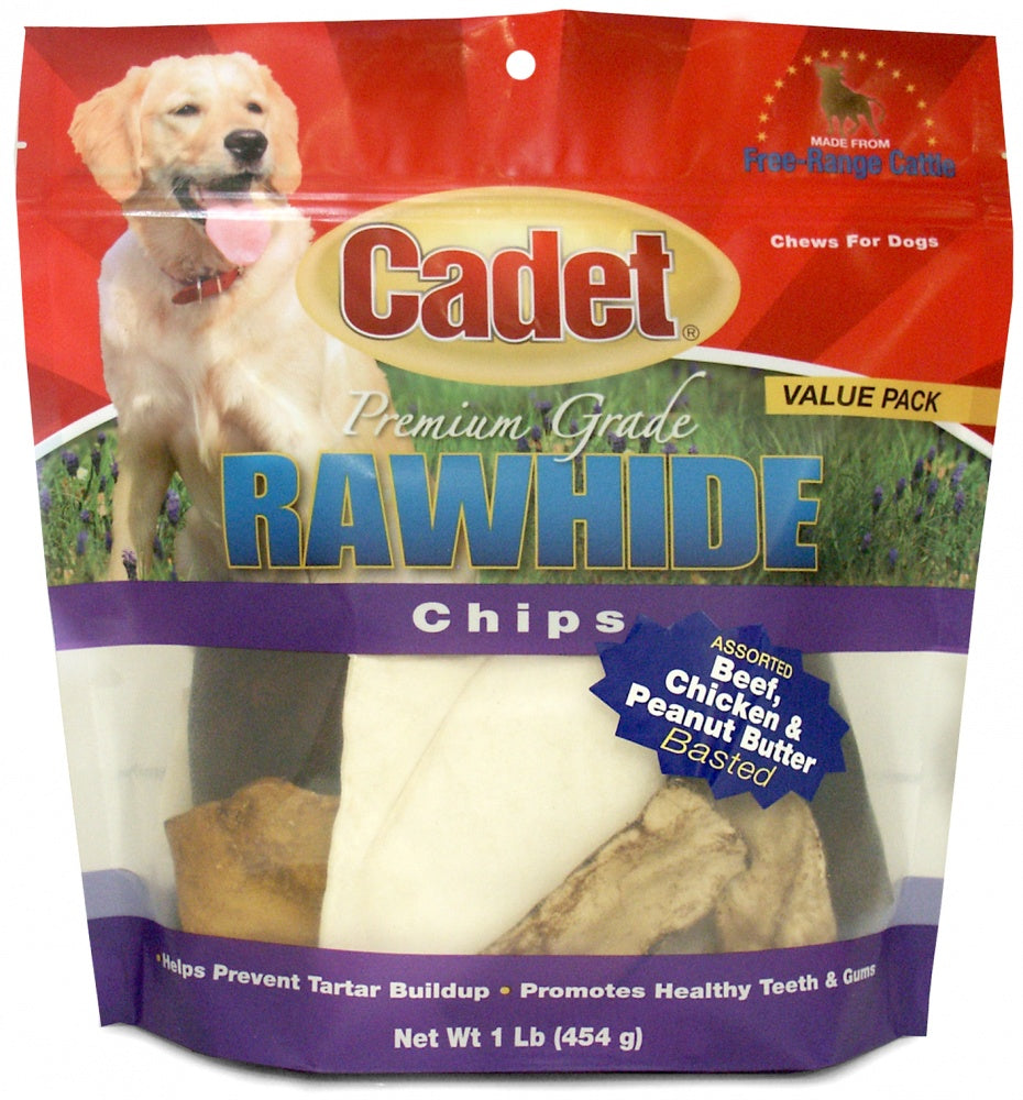 Cadet Rawhide Assorted Flavors Chips for Dogs