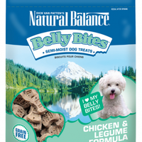 Natural Balance Belly Bites Chicken and Legume Semi-Moist Treats for Dogs