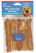 Pet Factory USA Beef Flavored Chip Rolls Dog Treats