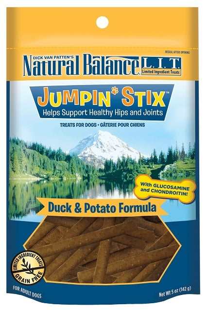 Natural Balance L.I.T. Limited Ingredient Treats Jumpin' Stix Duck and Potato Formula Dog Treats