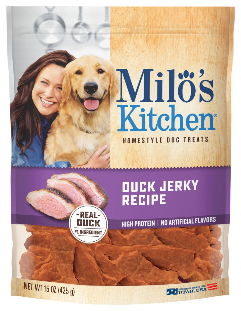 Milo's Kitchen Duck Jerky Recipe Dog Treats