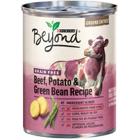 Purina Beyond Ground Entree Grain Free Beef, Potato and Green Bean Canned Dog Food