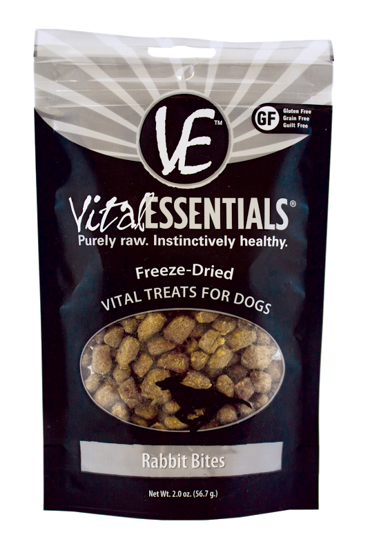 Vital Essentials Freeze Dried Rabbit Bites Vital Treats for Dogs