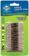 PetSafe Busy Buddy Natural Rawhide Ring Treats Dog Toy Refill