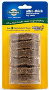 PetSafe Busy Buddy Ultra Thick Natural Rawhide Rings Dog Treats