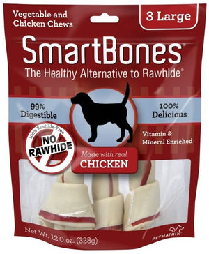 SmartBones Large Chicken Chew Bones Dog Treats