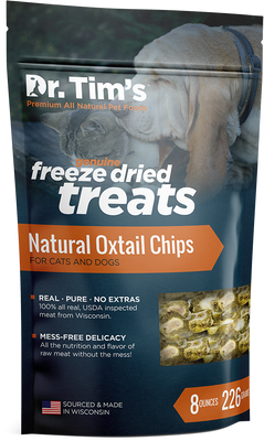 Dr. Tim's Freeze Dried Natural Oxtail Chips Dog and Cat Treats