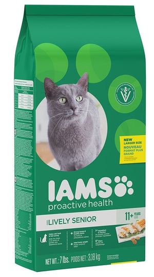 Iams ProActive Health Lively Senior 11+ Chicken Recipe Dry Cat Food
