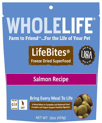 Whole Life LifeBites Grain Free Salmon Recipe Freeze Dried SuperFood for Cats