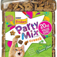 Friskies Party Mix Crunch Treasure Island Salmon, Shrimp and Tuna Cat Treats