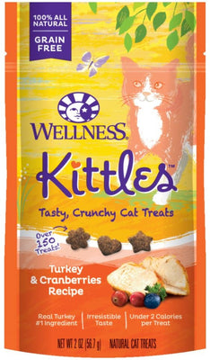 Wellness Kittles Grain Free Turkey and Cranberries Recipe Crunchy Cat Treats