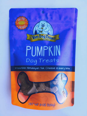 Yeti Pumpkin Dog Cookies